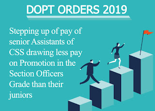 DoPT - Increase in salary for senior CSS assistants earns less compensation than their juniors in promotional levels
