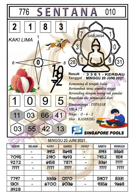 Syair Sentana Singapura minggu 20-juni-2021