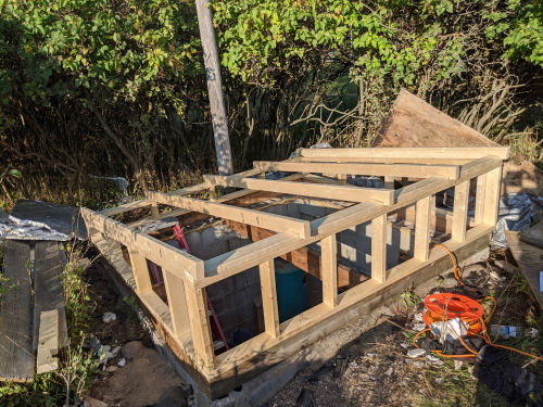 well pit framing