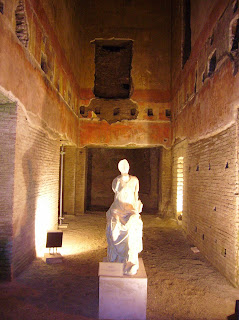 One of the rooms in the rediscovered and partially restored Domus Aurea