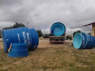 Chegam caixas d'água para comunidades rurais em Picuí para sistema de dessalinização