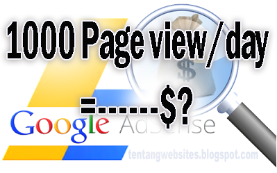 Page view Blog 1000/day berapa dolar
