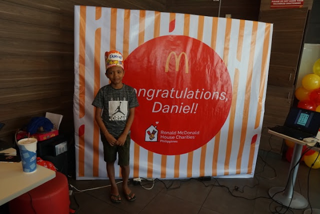 Daniel Cabrera graduates Elementary with the the help of Ronald McDonald House Charities
