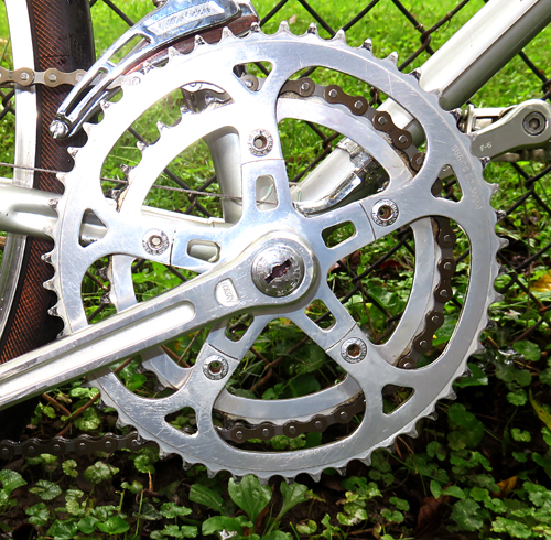 Sugino Chain Ring and Cranks on Sekai Bicycle