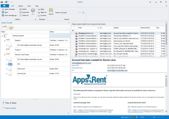 Screenshot Encryptomatic MailDex 2020 v1.4.3.1 Full Version