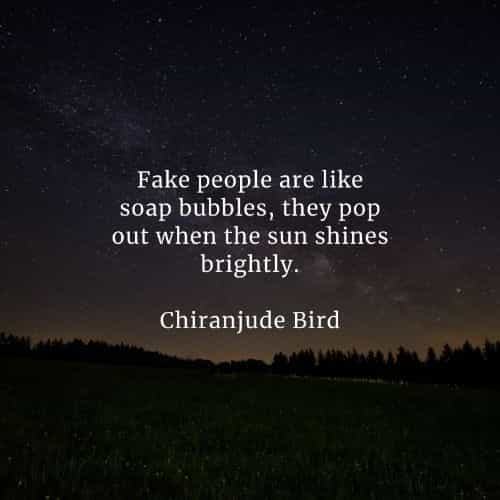Fake people quotes that'll tell you more about the matter