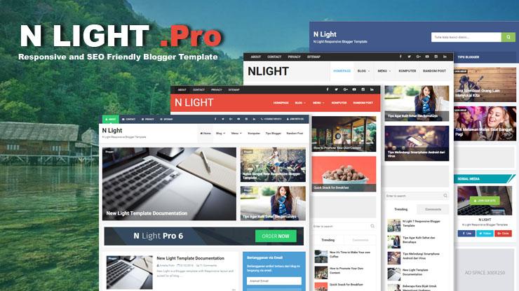 N Light Responsive Blogger Template