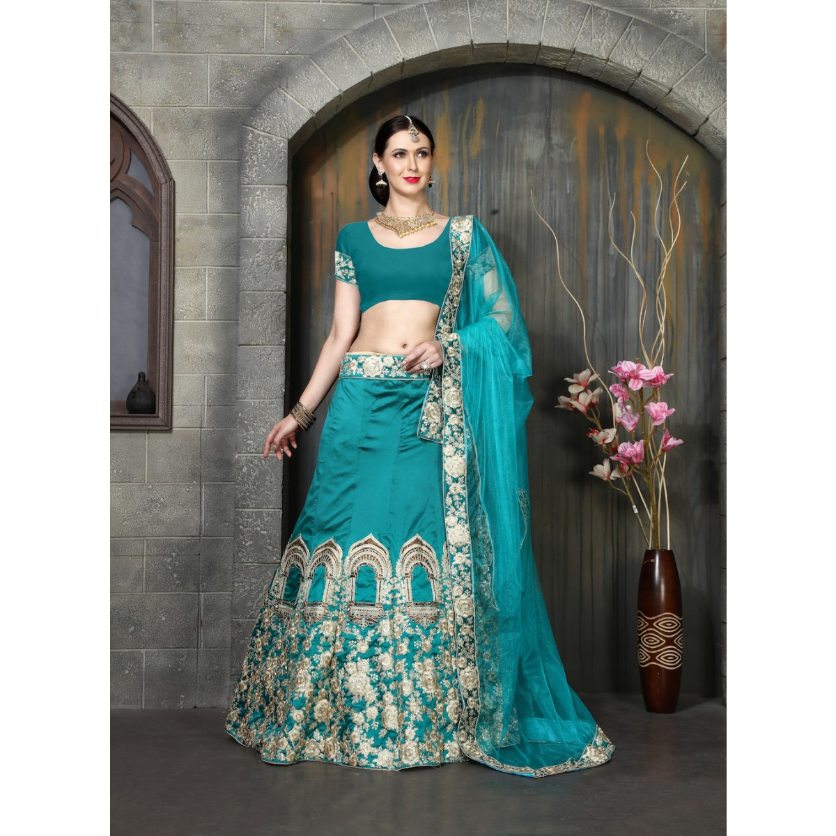 Turquoise Blue Lehenga for a Bride