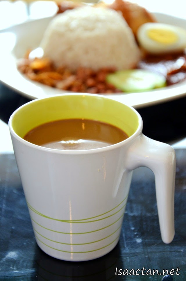 Thick coffee (RM2.50) to go with our nasi lemak.