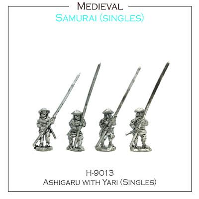 H-9013 Ashigaru with Yari SINGLES
