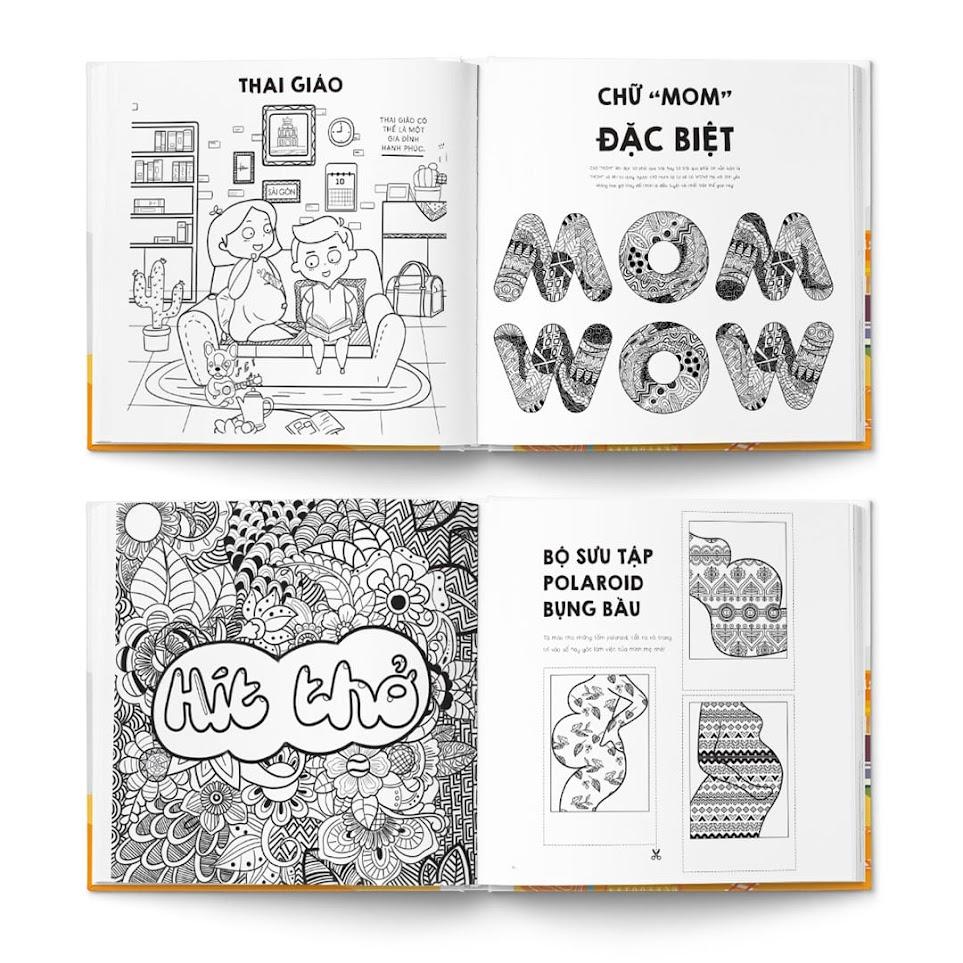 [A116] Sách tô màu giải đố cho Bà Bầu thư giãn