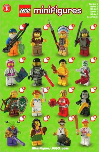 The Minifigure Collector Lego Minifigures Series 3 Rarity