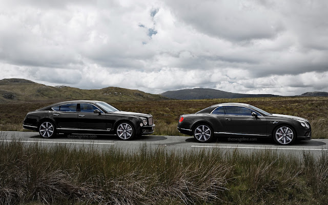 Two Bentleys parked up