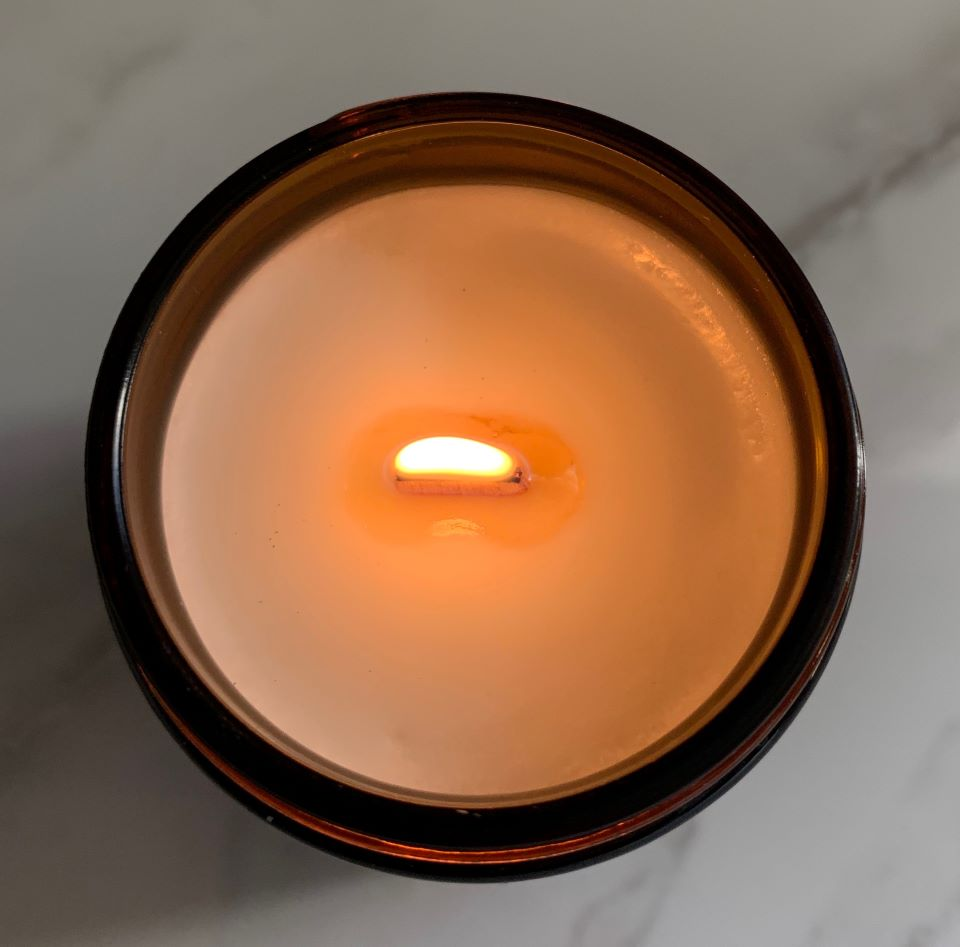 beautiful lit wood wick candle #giveaway #ad