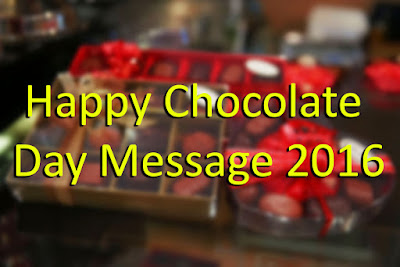 Happy Chocolate Day Message 2016