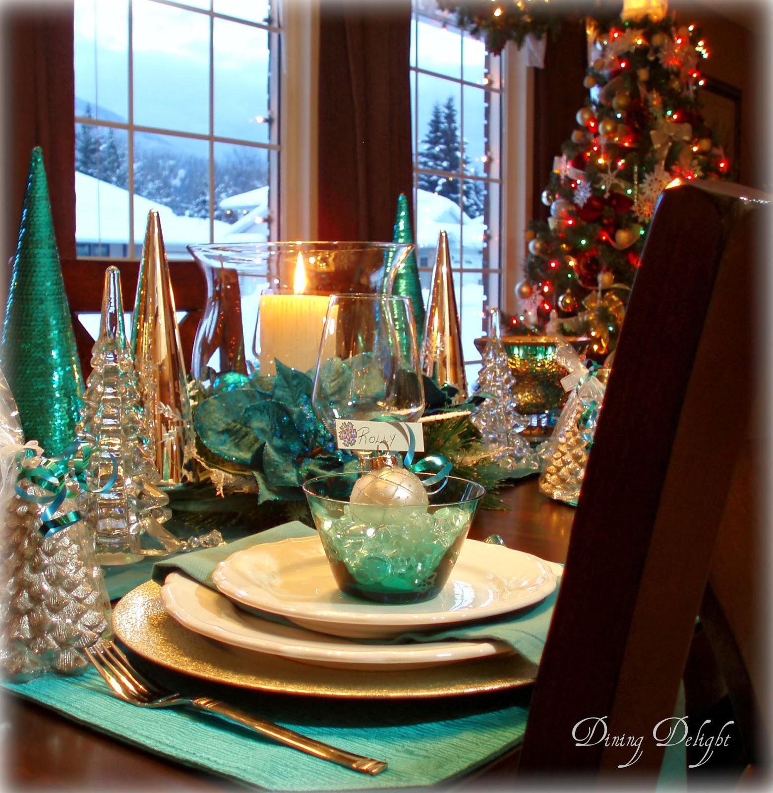 Christmas Dining Room Ideas To Add A Flourish To Christmas: Dining Delight: Christmas In Teal Blue