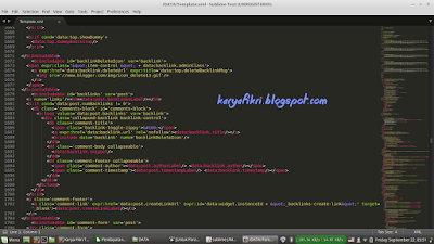 tampilan sublime di linux by karyafikri.blogspot.com