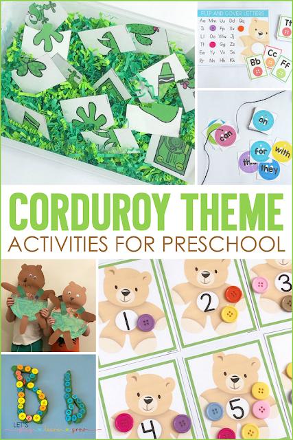 Corduroy Themed Activities for Preschool