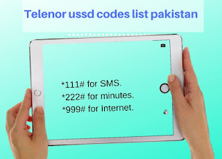 Telenor ussd codes list pakistan