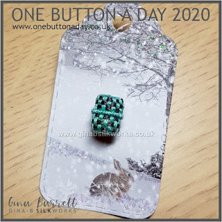 One Button a Day 2020 by Gina Barrett - Day 47: Pied