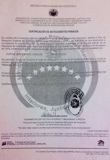Tr mites y recomendaciones para vivir y trabajar en ecuador for Ministerio de relaciones interiores y justicia