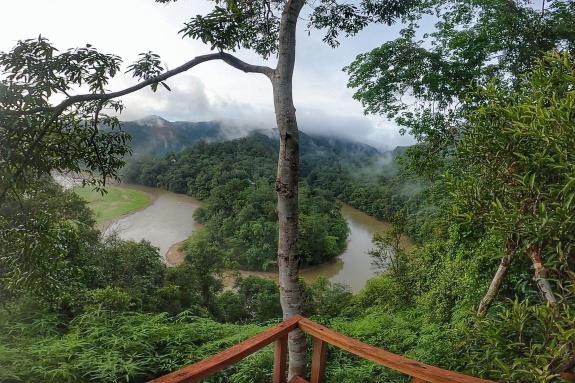 Foto Indahnya Objek Wisata Rumah Pohon di Kenegerian Desa Batu Sanggan