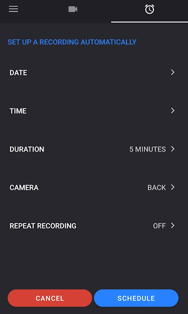 Quick Video Recorder Scheduler