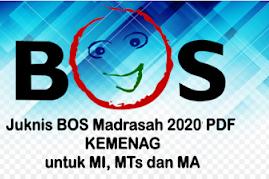 Download Juknis BOS Jenjang MI,MTs & MA Tahun Ajaran 2020/2021