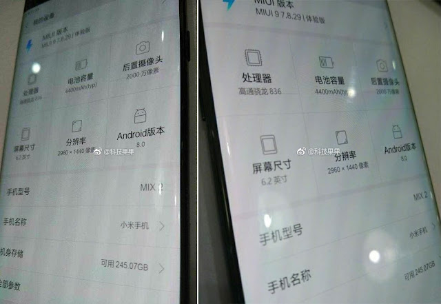 bocoran Mi MIX 2, Tampilan Spesifikasi Xiaomi Mi MIX 2