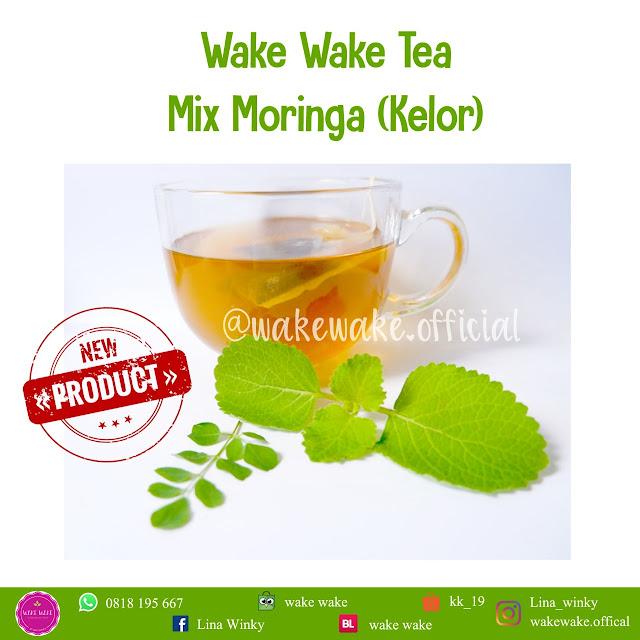 Wake Wake Tea Mix Moringa, Teh Daun Kelor untuk Booster ASI