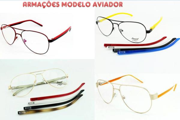 O estilo avidor deixou de estar apenas nos óculos escuros e agora aparece  em armação para grau em diversas cores e com a possibilidade de trocar as  hastes, ... 0b4a58229d