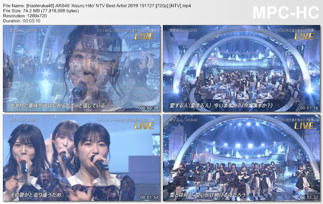 AKB48 'Aisuru Hito' NTV Best Artist 2019 191127 (NTV)