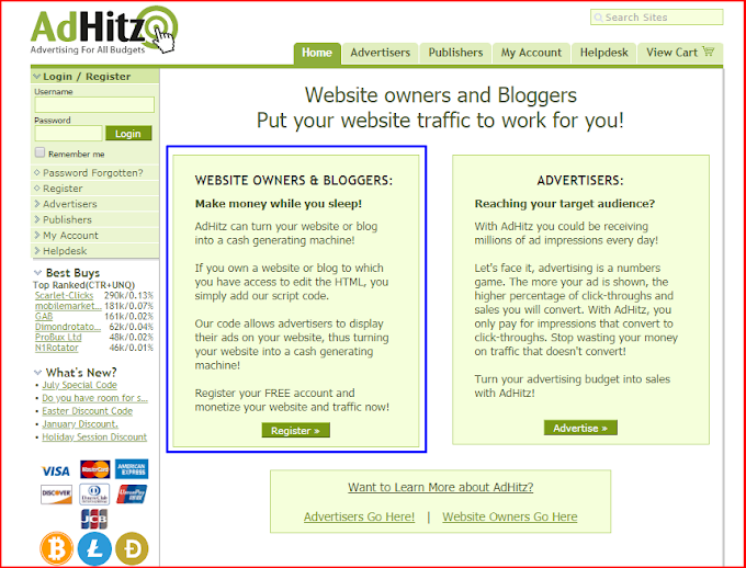 How To Earn Money From AdHitz In Blogger