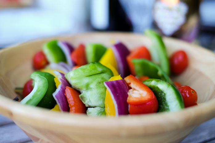 Vegetables kabobs