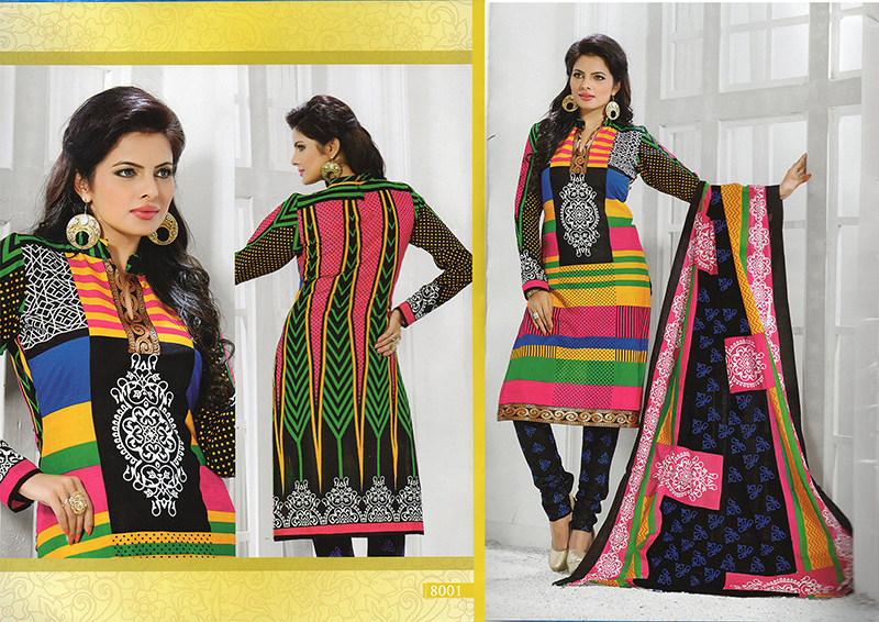 Dipak Vol-8-  Stylish Look up Gorgeous Cotton Dress Material