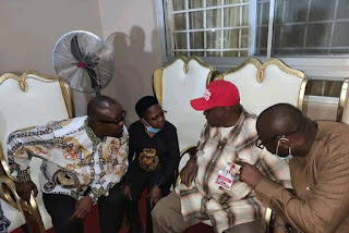 "Gov. Darius Ishaku Meets With Chinedu Ikedieze ""Aki"" And Charles Onochia Amid Son Wedding (Photos)"
