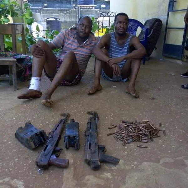 Photos: Police Arrests Armed Robbers Who Invaded Zenith Bank Owerri