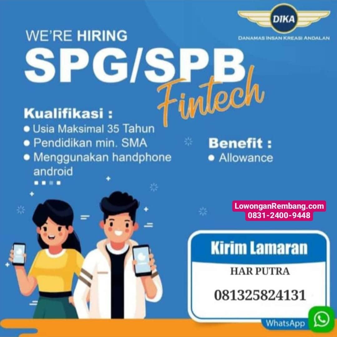 Lowongan Kerja SPG Atau SPB Finctech Rembang