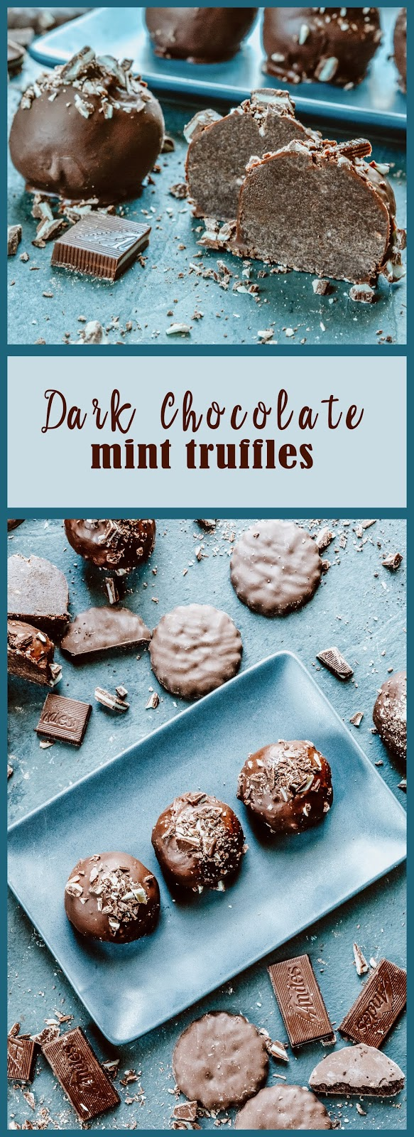 Dark Chocolate Mint Truffles
