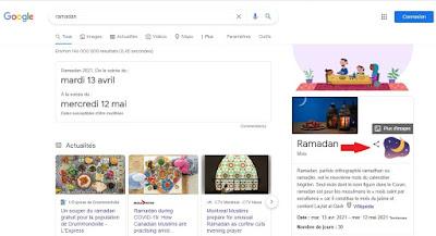 Mois du Ramadan et l'Easter Egg dans la fiche info