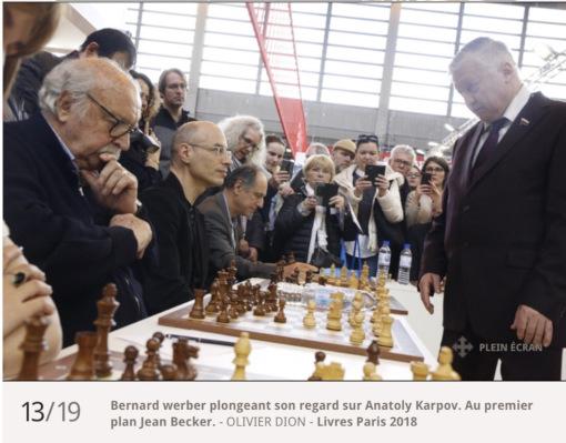 Bernard Werber a eu la chance de jouer contre l'ancien Champion du monde, Anatoly Karpov