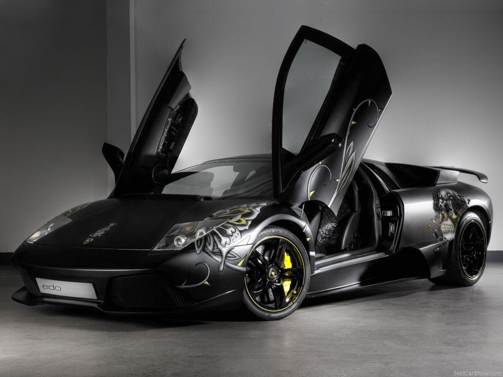 Carro Modificado Marca Lamborghini Modelo Diablo Color Negro Con