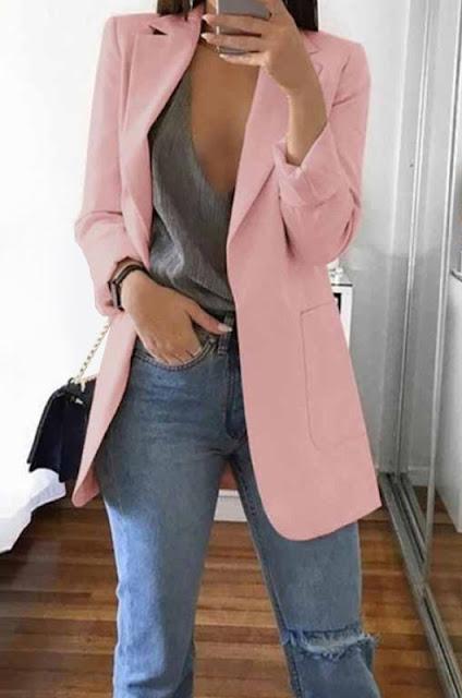Blazer alfaiataria feminino rosa