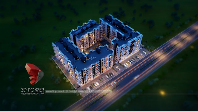 night-view-3d-walkthrough-services-apartment-project