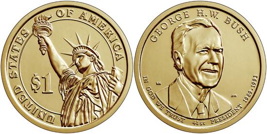 USA 1 dollar 2020 - George H. W. Bush