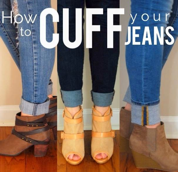 e54231bf The first time I wore a pair of jeans with ankle boots, I struggled with  the right way to cuff my jeans. Now, even after a few years of owning  booties, ...