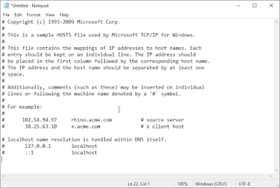 reset hosts di windows 7