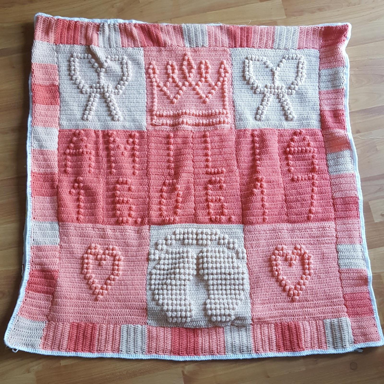Für Die Kleinsten Personalisierte Babydecke Im Bobbelmuster Häkeln