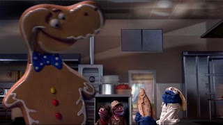 Cookie Monster's grandkids give him strategies to relax when they are on the run from a giant prehistoric cookie. Sesame Street Cookie's Crumby Pictures Jurassic Cookie.