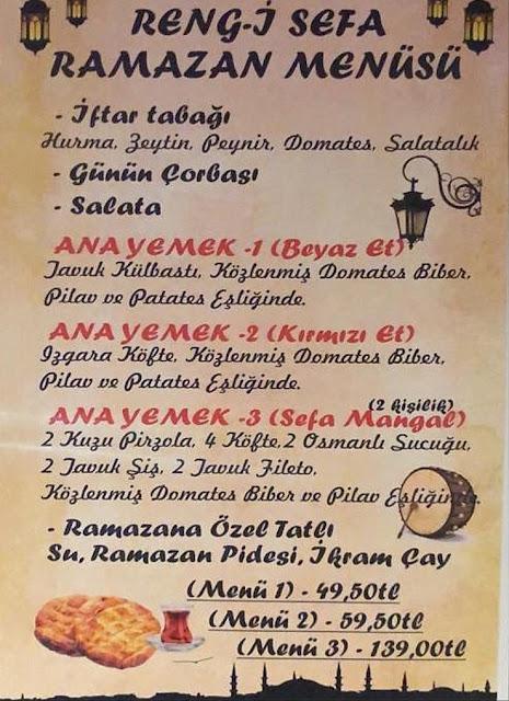 rengi sefa balçova izmir iftar menü izmir iftar mekanları balçova iftar mekanları
